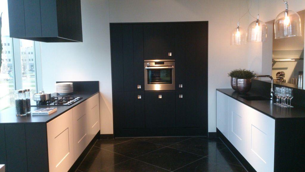 witte keuken zwart werkblad  consenza for ., Meubels Ideeën